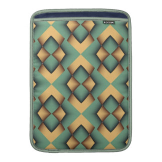 Teal green and Gold diamond shapes Sleeve For MacBook Air