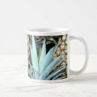 Teal, Green and Golden Hawaiian Pineapples Coffee Mug