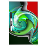 Teal Green and Red Art Dry Erase Board