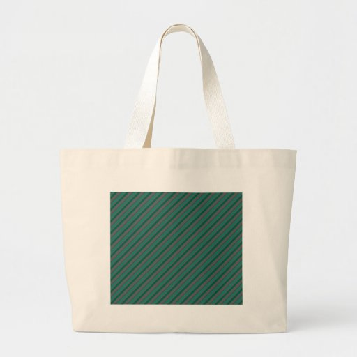 Teal Green and Silver Stripes Tote Bag
