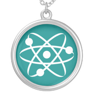 Teal Green Atom Personalized Necklace
