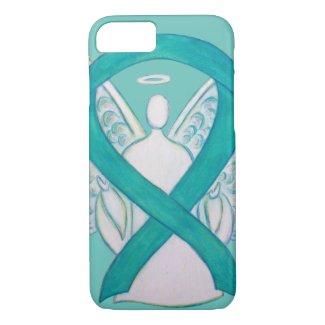 Teal Green Awareness Ribbon Angel iPhone7 Case