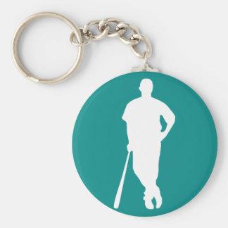 Teal Green Baseball Key Chain