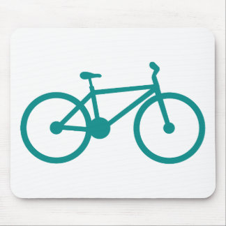 Teal Green Bicycle Mouse Pads