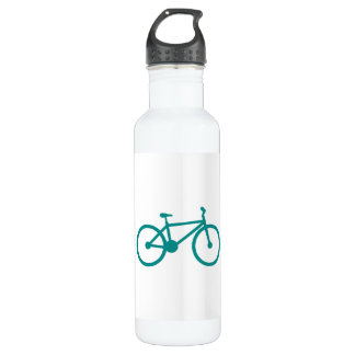 Teal Green Bicycle 24oz Water Bottle