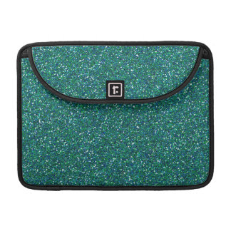 Teal Green Blue Glitter Graphic Art Pattern Design Sleeve For MacBooks
