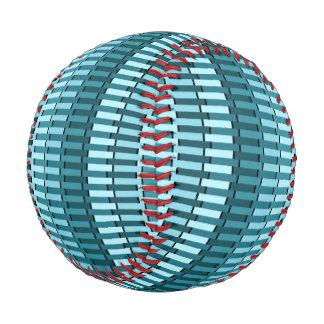 Teal Green Blue Modern Stripe Abstract Pattern Baseball
