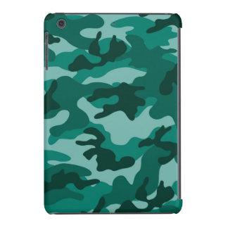 Teal Green Camo, Camouflage iPad Mini Retina Case