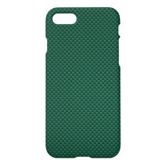 Teal Green Carbon Fiber Automotive Texture iPhone 7 Case