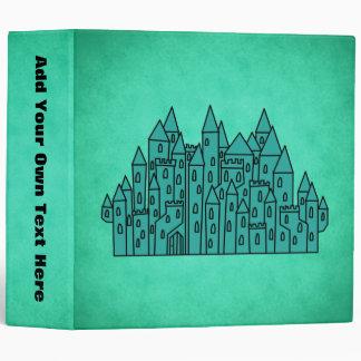 Teal Green Castle. 3 Ring Binder