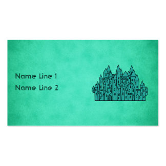 Teal Green Castle. Business Card