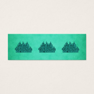 Teal Green Castle. Mini Business Card