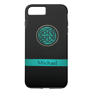Teal Green Celtic Knot iPhone 7 Plus Case