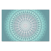 Teal Green Chevron Mandala Tissue Paper