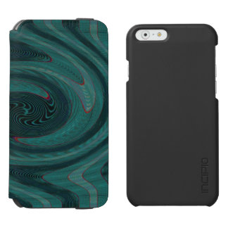 Teal Green Circular Abstract iPhone 6/6s Wallet Case