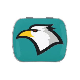Teal Green; Eagle Candy Tin