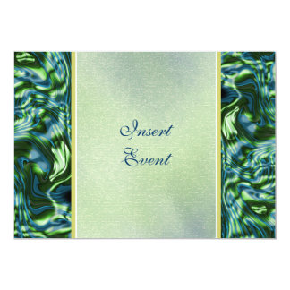 Teal green elegant formal party 5x7 paper invitation card