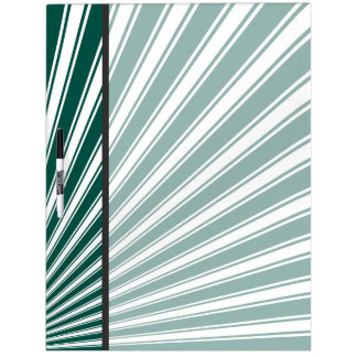 Teal Green Funky Sun Rays Background Dry Erase Board