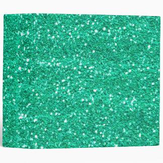 Teal Green Glitter Binder