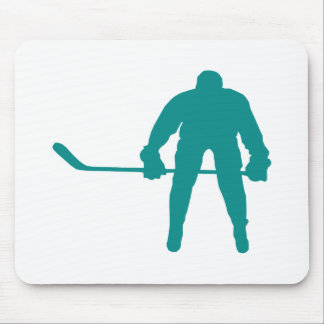 Teal Green Hockey Mouse Pad