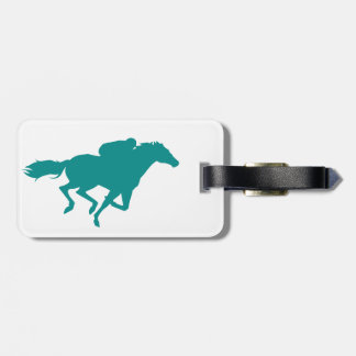 Teal Green Horse Racing Tag For Bags