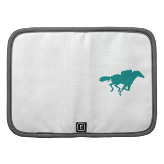 Teal Green Horse Racing Folio Planner