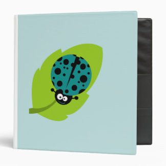 Teal Green Ladybug 3 Ring Binder