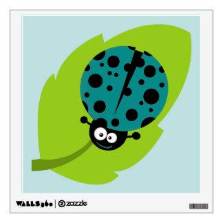 Teal Green Ladybug Wall Graphics