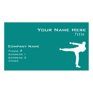 Teal Green Martial Arts Double-Sided Standard Business Cards (Pack Of 100)