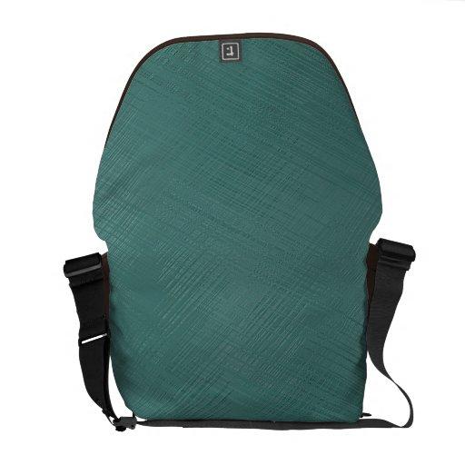 Teal Green Messenger Bag