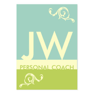 Teal Green Minimalistic Monogram Appointment Large Business Cards (Pack Of 100)