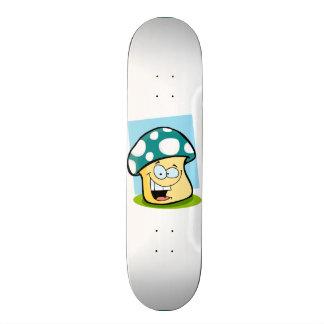 Teal Green Mushroom Skate Decks