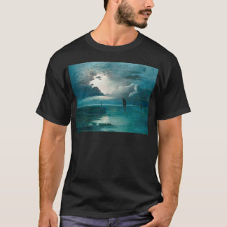 Teal Green Ocean and Boats T-Shirt
