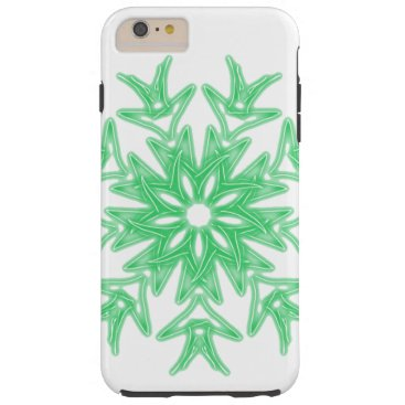 Aztec Themed Teal Green Palm ~ Tough iPhone 6 Plus Case