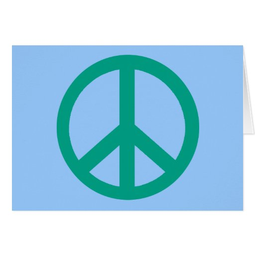 Teal Green Peace Sign Products Card