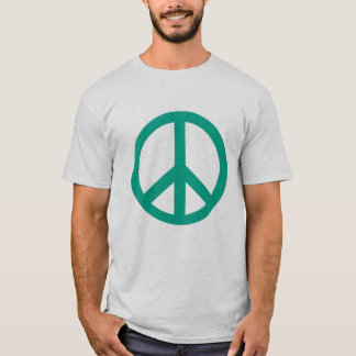 Teal Green Peace Sign Products T-Shirt