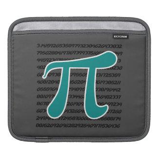 Teal Green Pi symbol iPad Sleeve