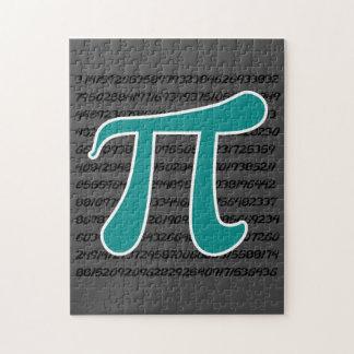 Teal Green Pi symbol Jigsaw Puzzle