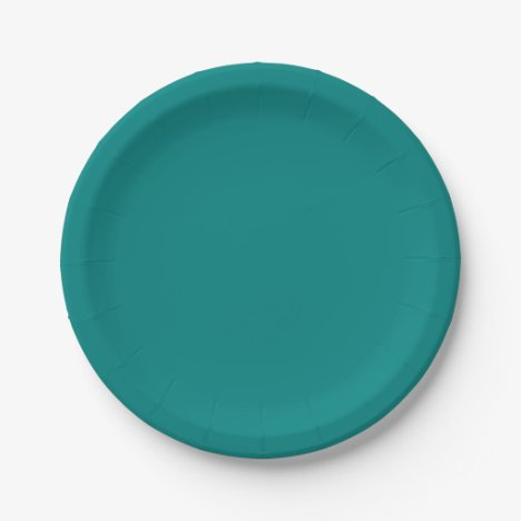 Teal Green Plates