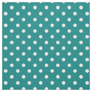 Teal Green Polka DOts Fabric