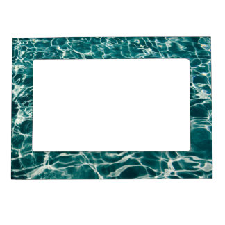 Teal Green Pool Pattern Magnetic Photo Frame
