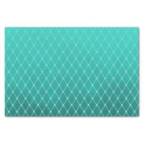 Teal Green Smudge Color with Diamond Pattern Tissue Paper