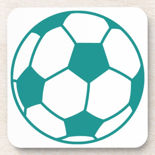 Teal Green Soccer Ball Beverage Coasters Zazzle