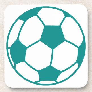 Teal Green Soccer Ball Coaster