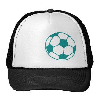 Teal Green Soccer Ball Trucker Hat