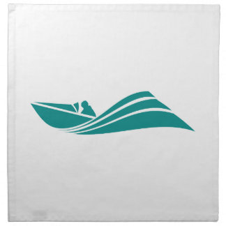 Teal Green Speed Boat Cloth Napkin