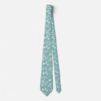Teal Green Starfish Seashell and Ocean Sealife Tie