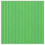 [ Thumbnail: Teal & Green Striped Pattern Fabric ]