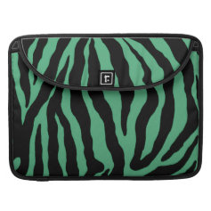 Teal Green Tiger Striped Cases Sleeves MacBook Pro Sleeve