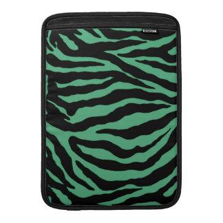 Teal Green Tiger Striped Cases Sleeves MacBook Sleeve